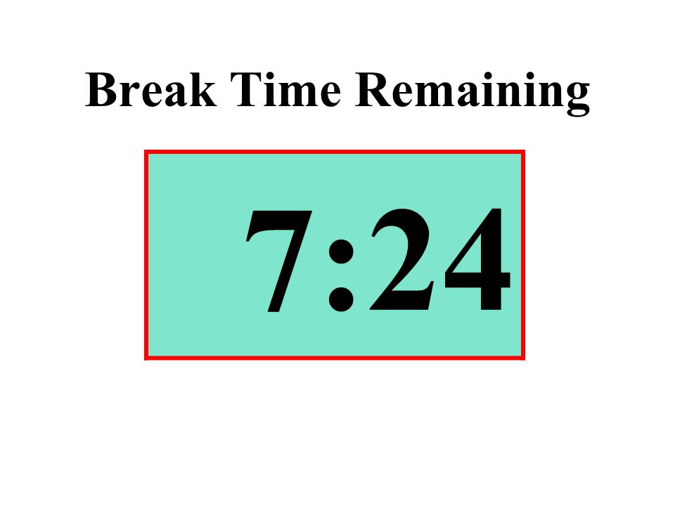 Break Time Remaining 7:24