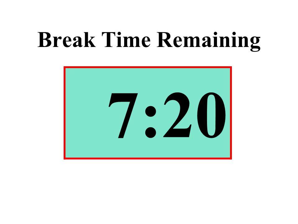 Break Time Remaining 7:20