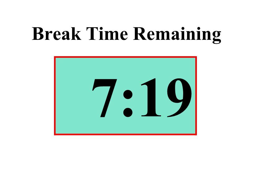 Break Time Remaining 7:19