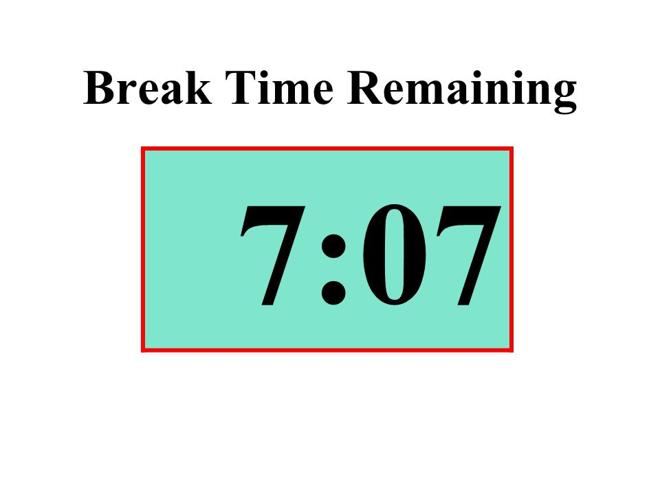 Break Time Remaining 7:07