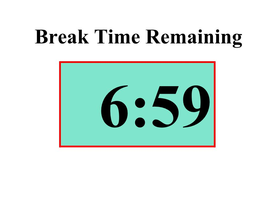 Break Time Remaining 6:59