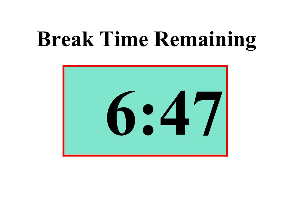 Break Time Remaining 6:47