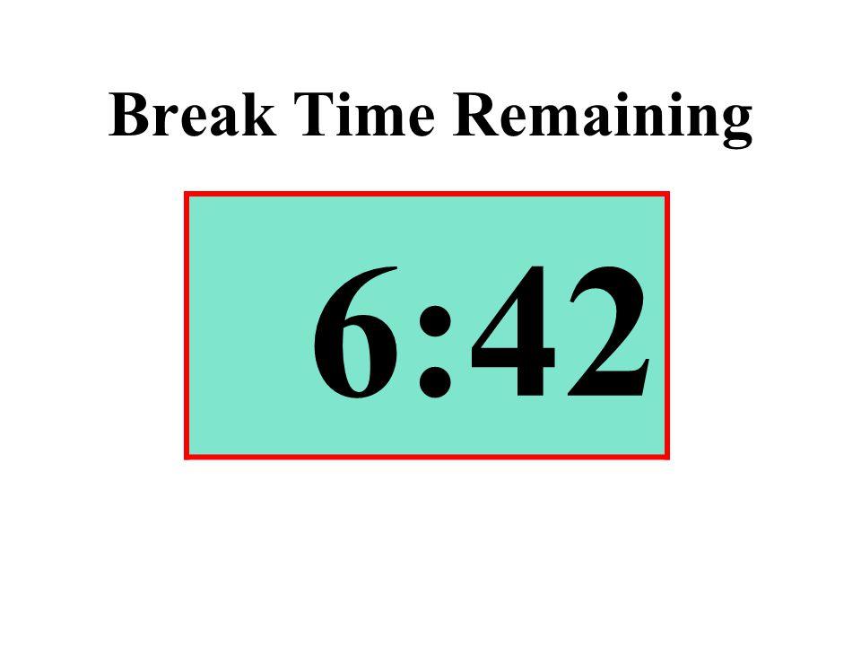Break Time Remaining 6:42