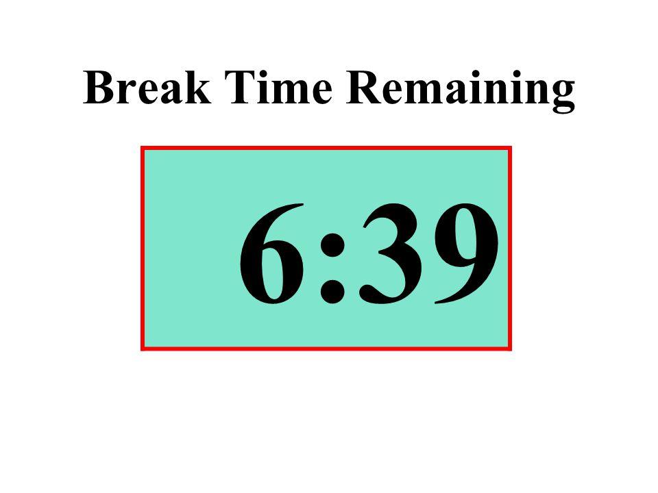 Break Time Remaining 6:39