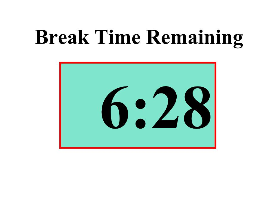 Break Time Remaining 6:28