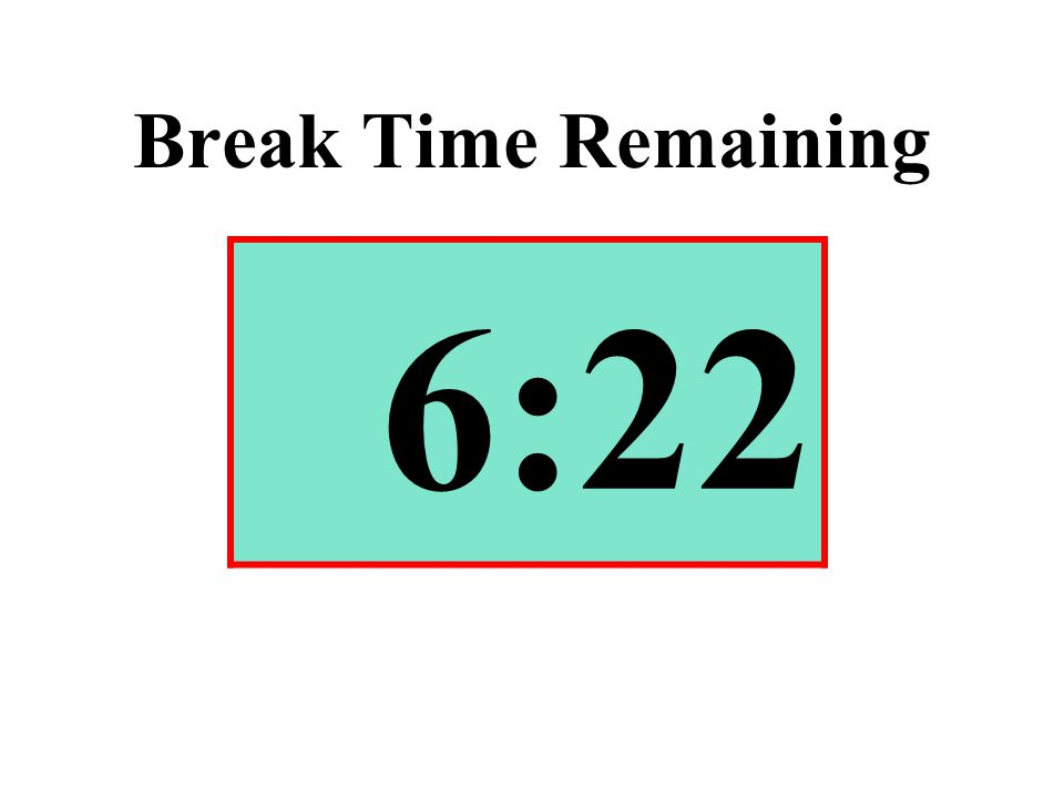 Break Time Remaining 6:22