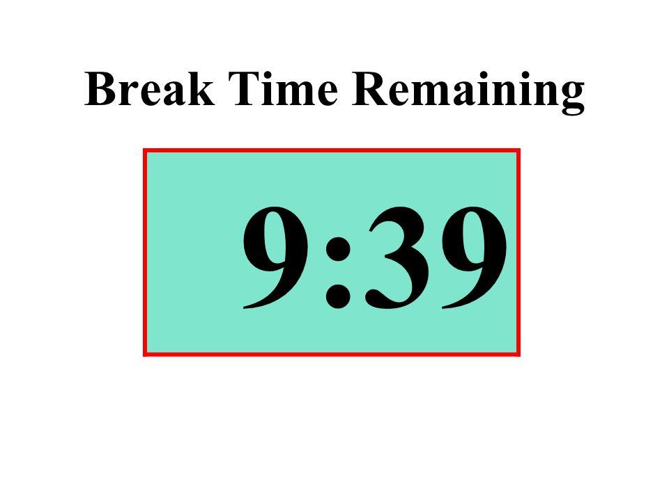 Break Time Remaining 9:39