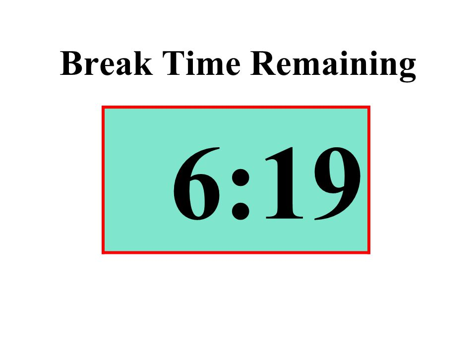 Break Time Remaining 6:19