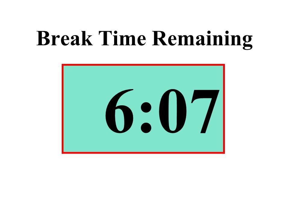 Break Time Remaining 6:07