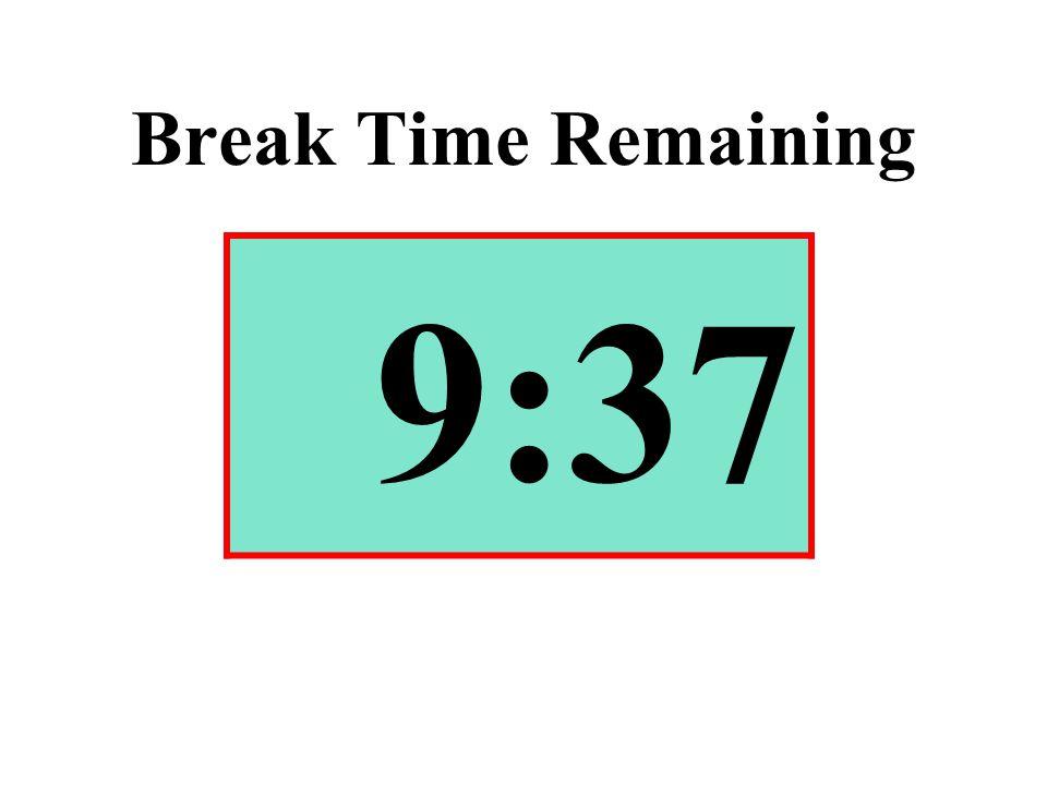 Break Time Remaining 9:37