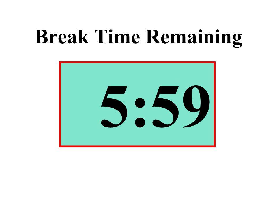 Break Time Remaining 5:59