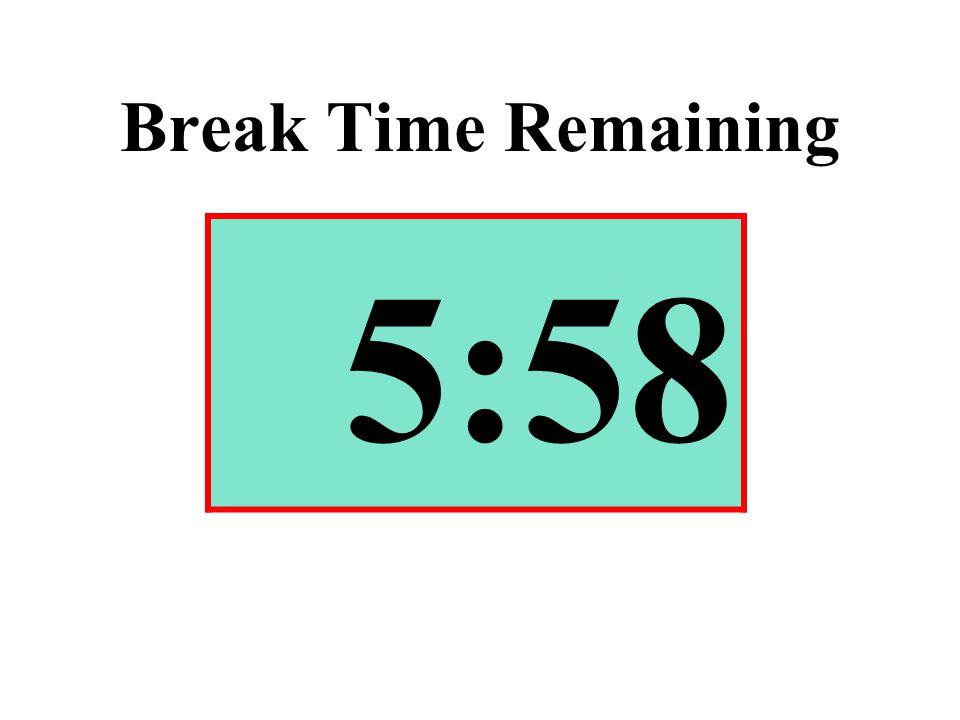 Break Time Remaining 5:58