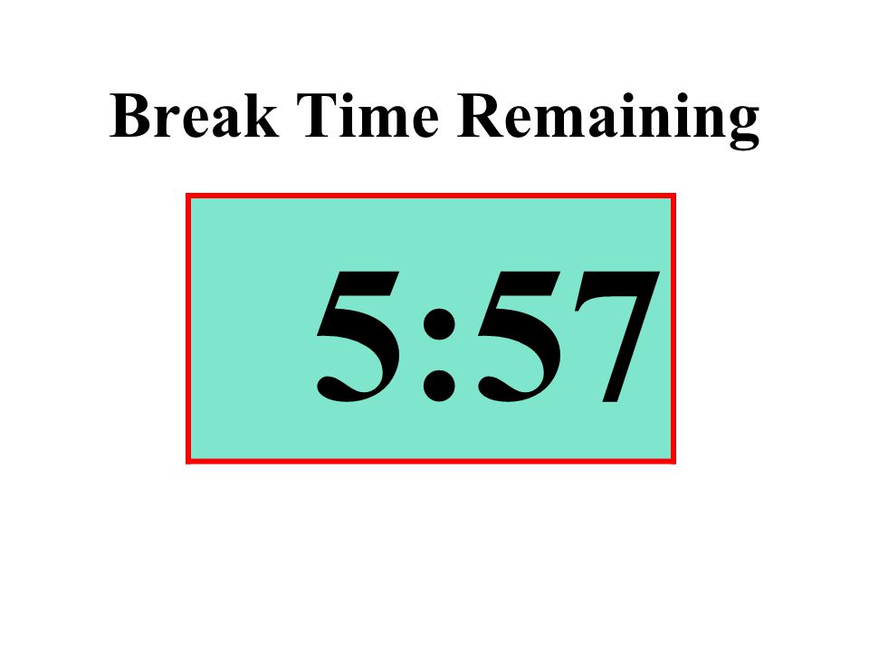 Break Time Remaining 5:57