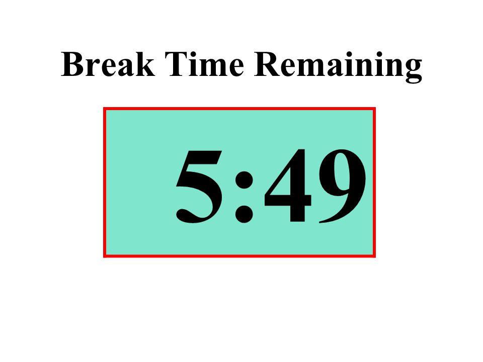 Break Time Remaining 5:49