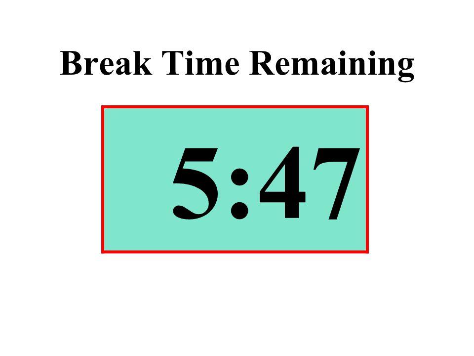 Break Time Remaining 5:47