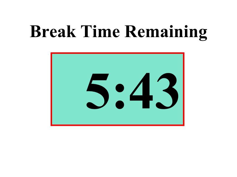 Break Time Remaining 5:43
