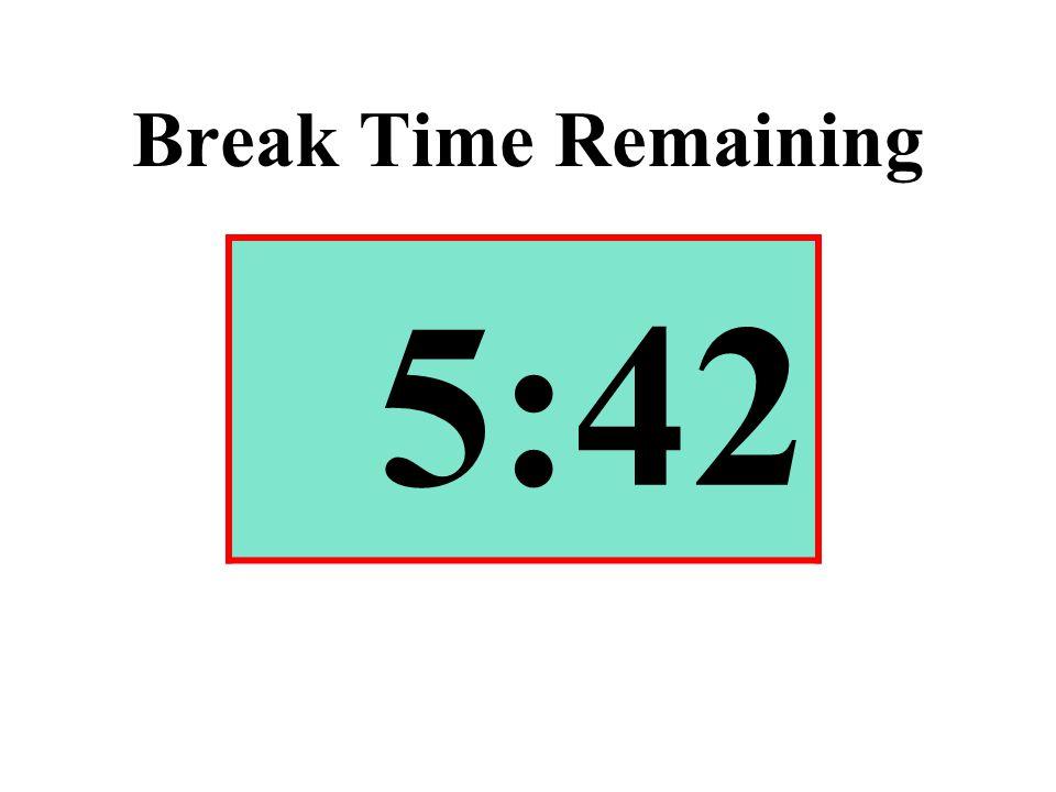 Break Time Remaining 5:42