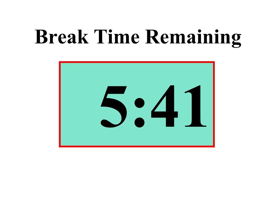 Break Time Remaining 5:41