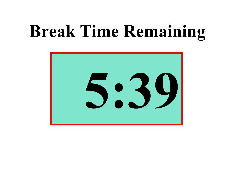 Break Time Remaining 5:39