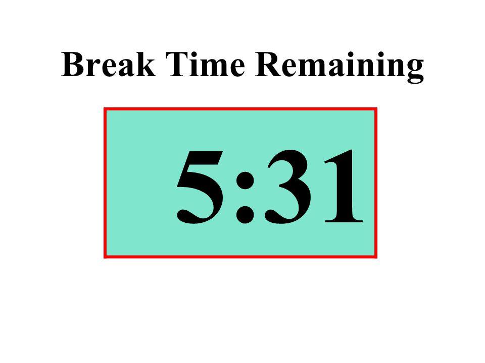 Break Time Remaining 5:31