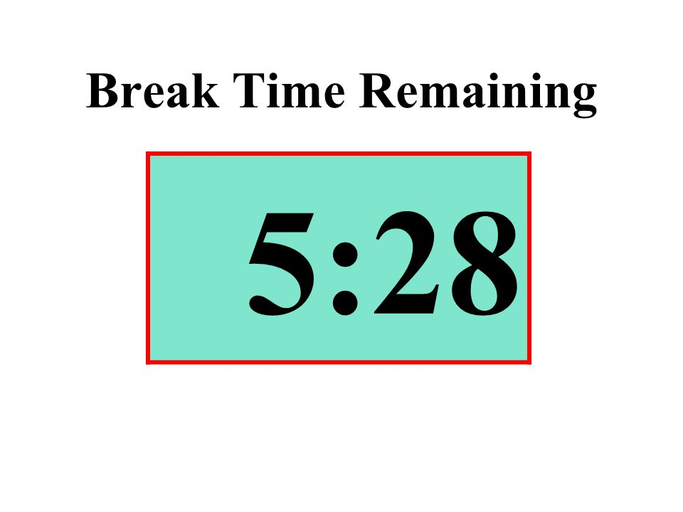 Break Time Remaining 5:28