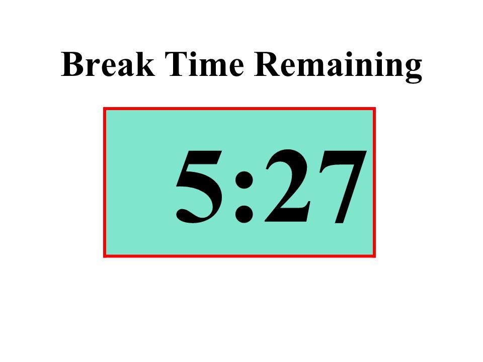 Break Time Remaining 5:27