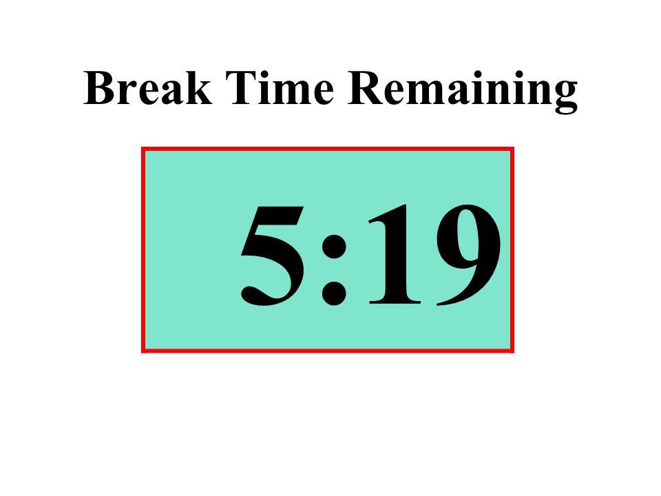 Break Time Remaining 5:19
