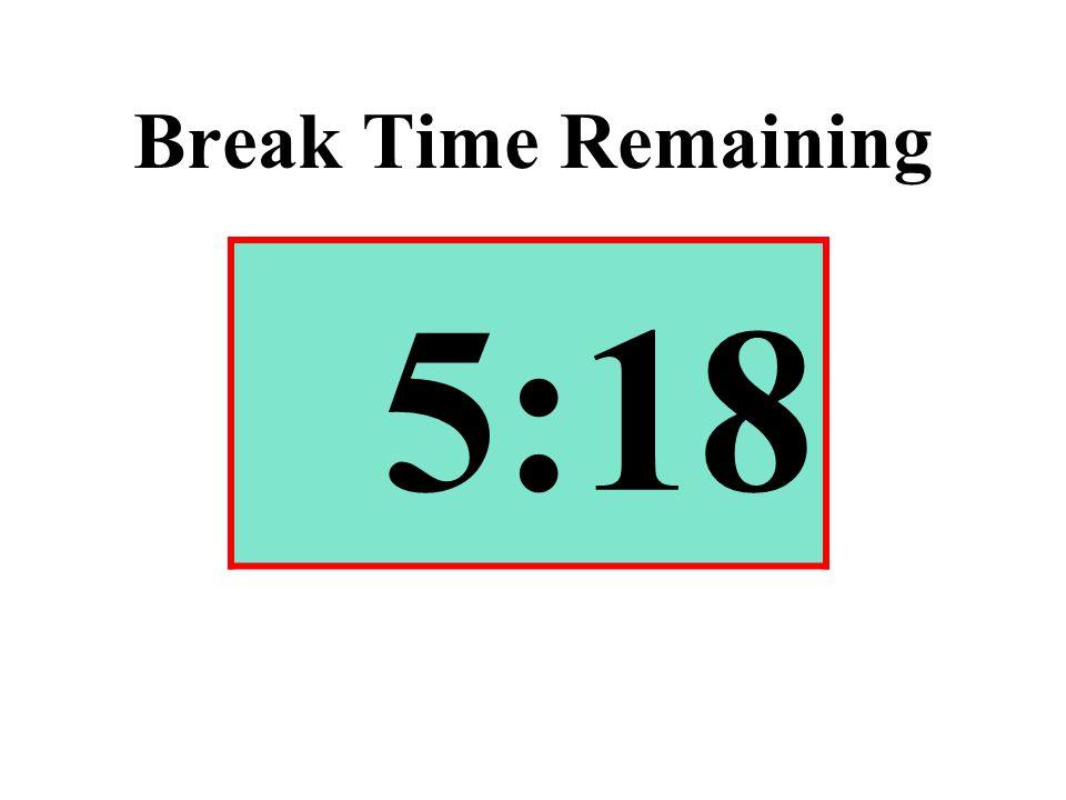 Break Time Remaining 5:18