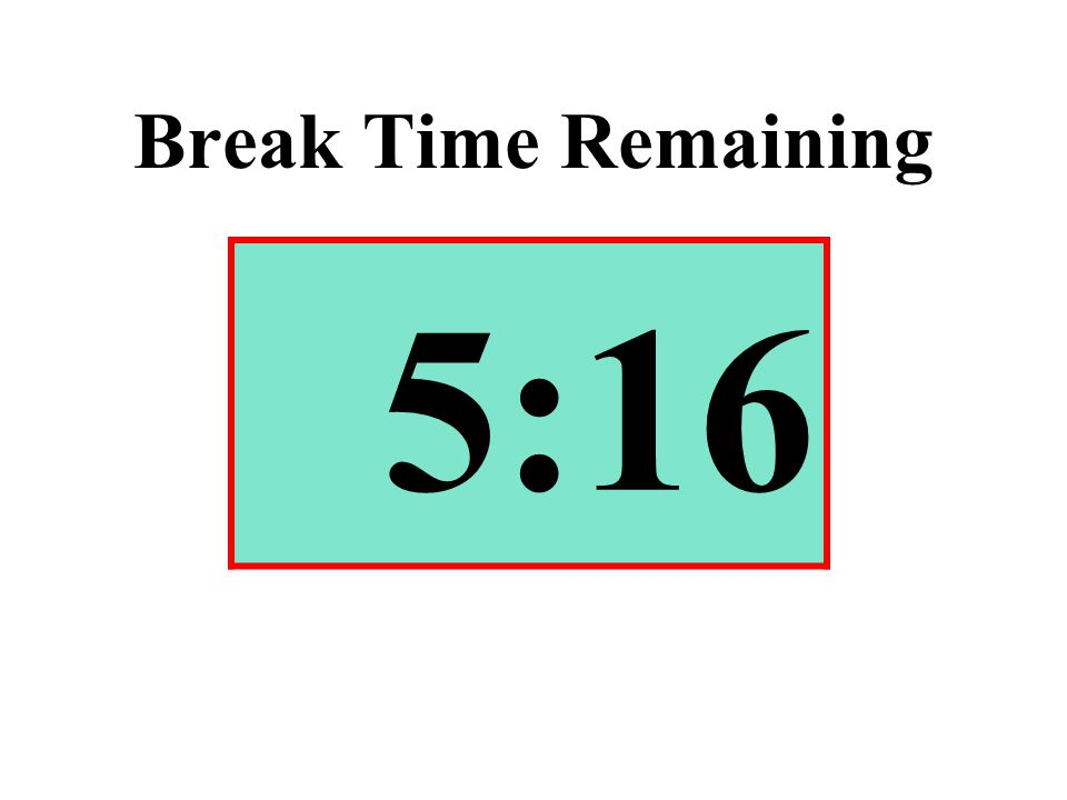 Break Time Remaining 5:16
