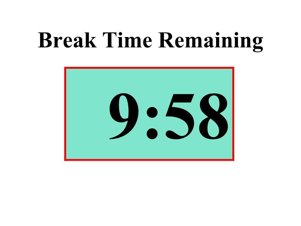 Break Time Remaining 9:58
