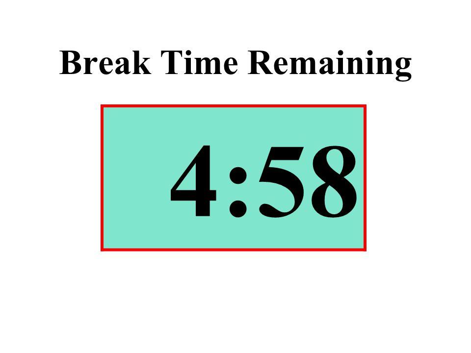 Break Time Remaining 4:58