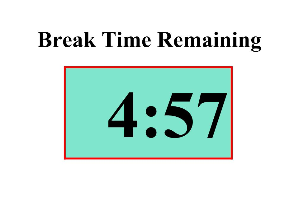Break Time Remaining 4:57