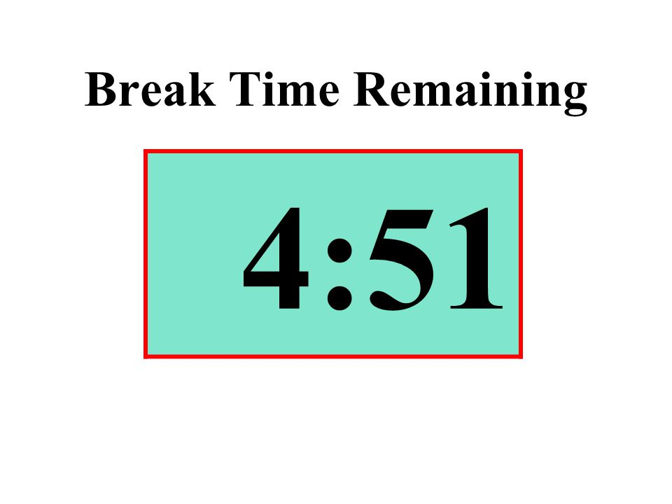 Break Time Remaining 4:51