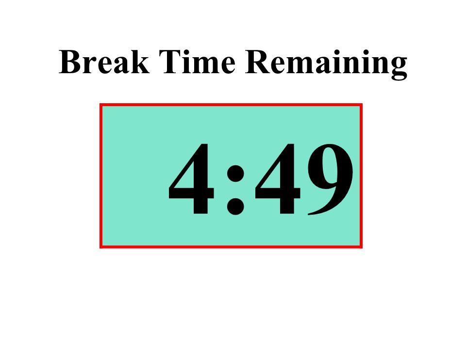 Break Time Remaining 4:49