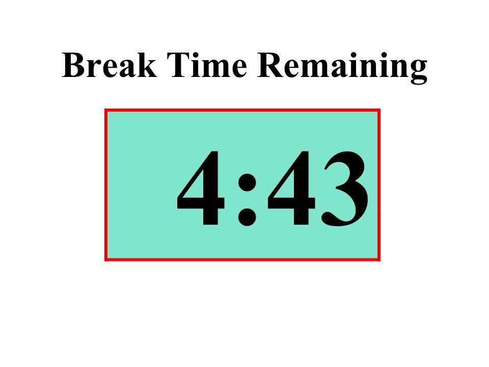 Break Time Remaining 4:43