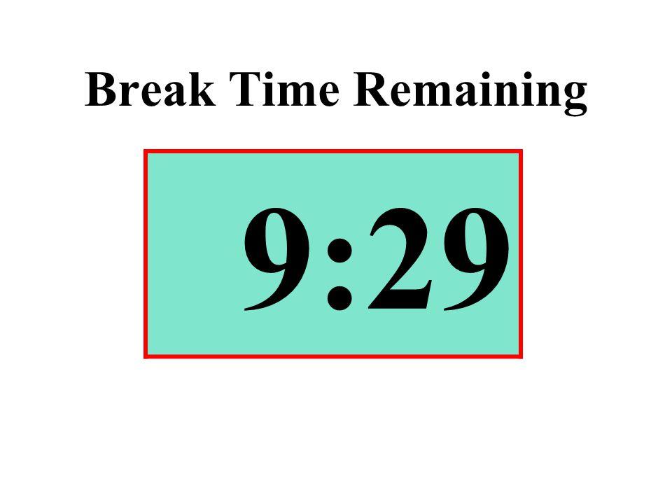 Break Time Remaining 9:29