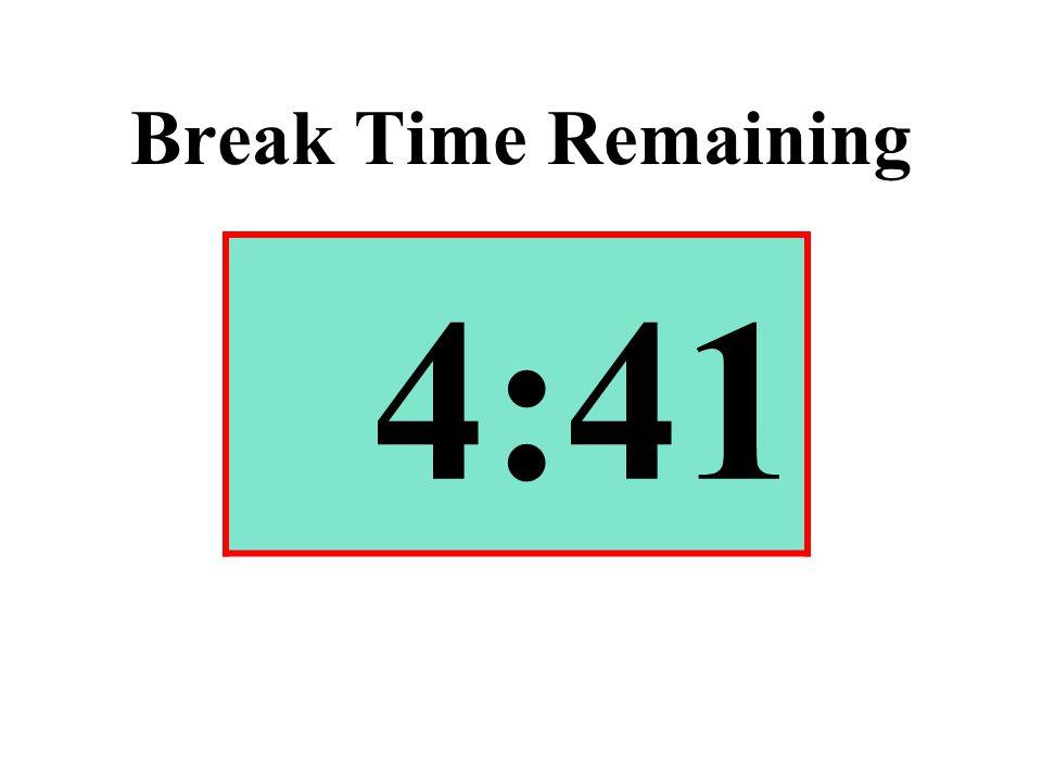 Break Time Remaining 4:41