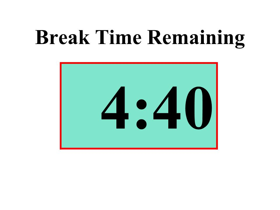 Break Time Remaining 4:40