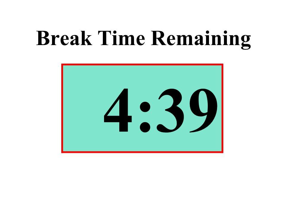 Break Time Remaining 4:39