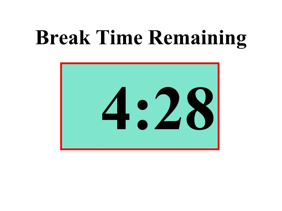 Break Time Remaining 4:28