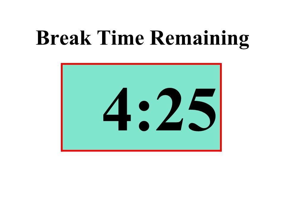 Break Time Remaining 4:25