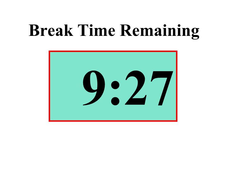 Break Time Remaining 9:27