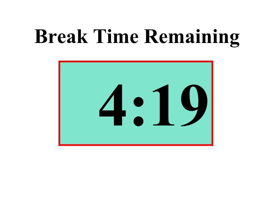 Break Time Remaining 4:19