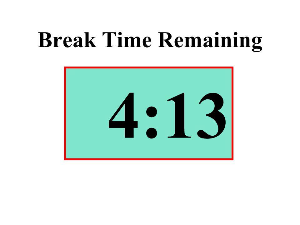 Break Time Remaining 4:13