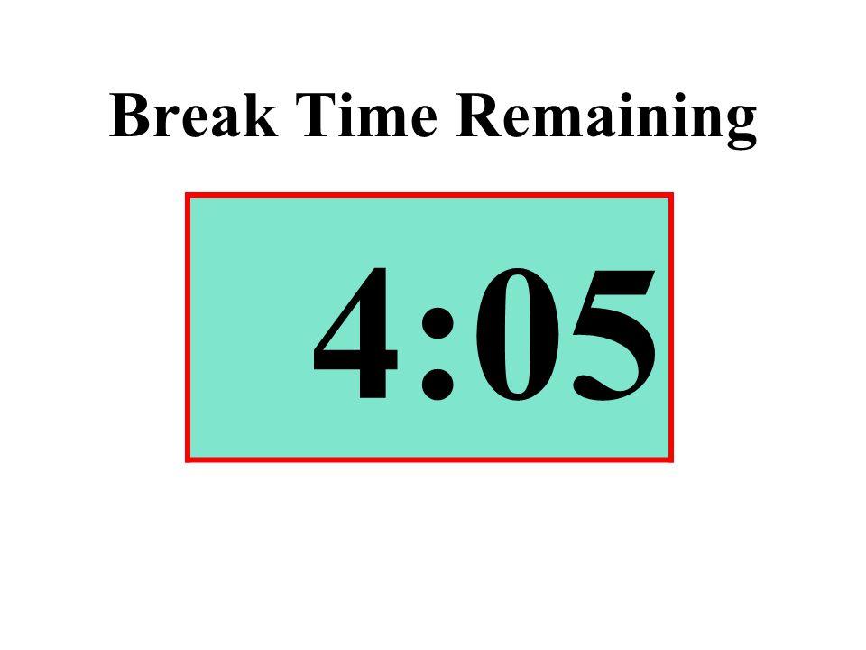 Break Time Remaining 4:05