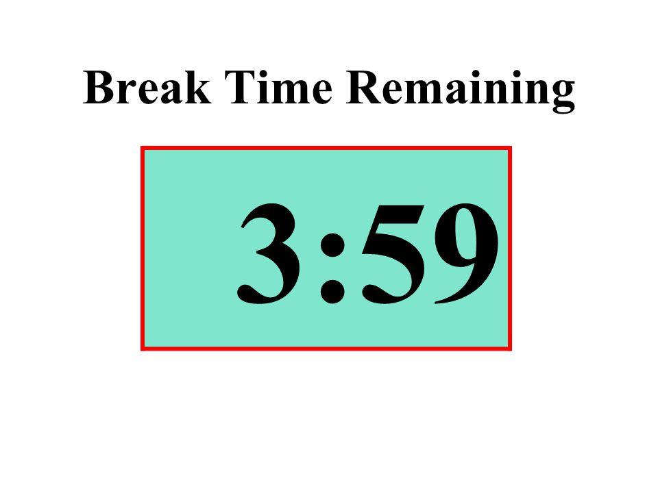Break Time Remaining 3:59