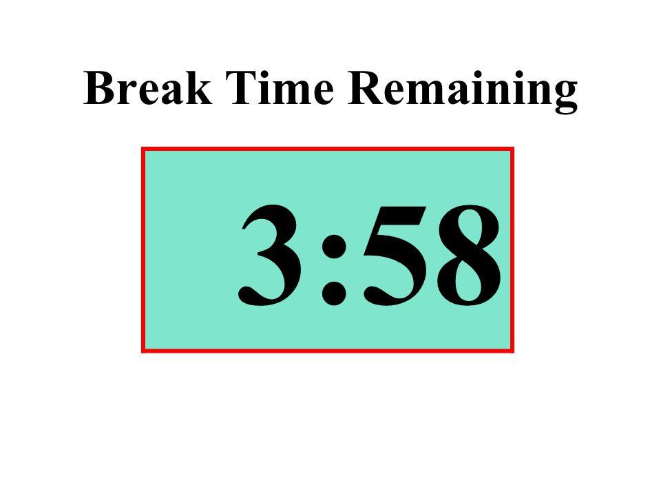 Break Time Remaining 3:58