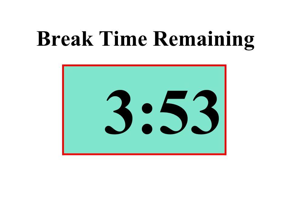 Break Time Remaining 3:53