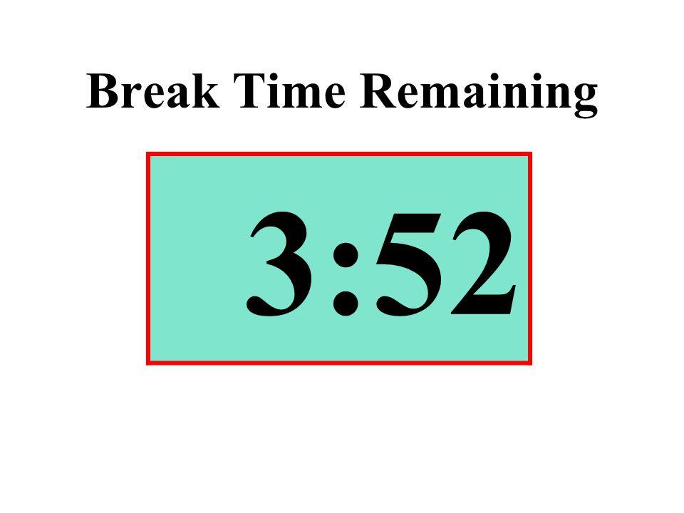 Break Time Remaining 3:52