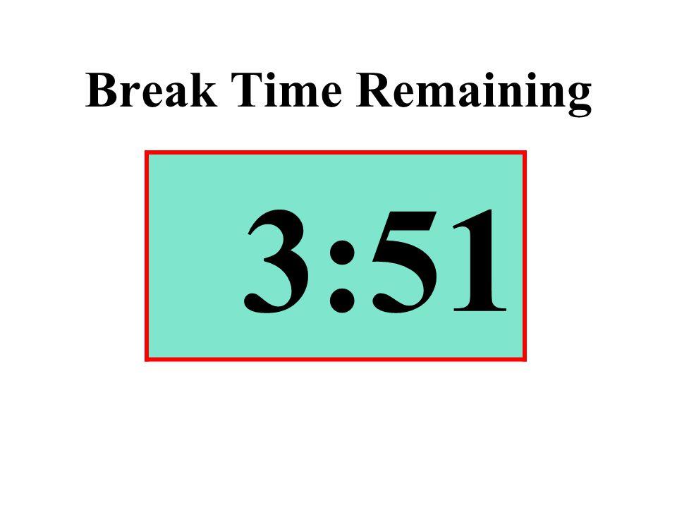 Break Time Remaining 3:51